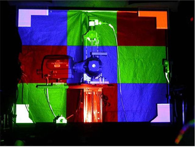 Процедура измерения цветовой яркости третьей тестовой картинки (Blue)