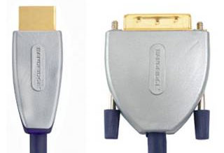 Кабель HDMI:BANDRIDGE SVL1101 BE PRE (HDMI- DVI) 1080p HD compatible 1.00 M