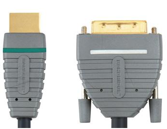 Фото товара Кабель HDMI:BANDRIDGE BVL1101 BLUE Line  (HDMI- DVI) 1080p HD compatible 1.00 M