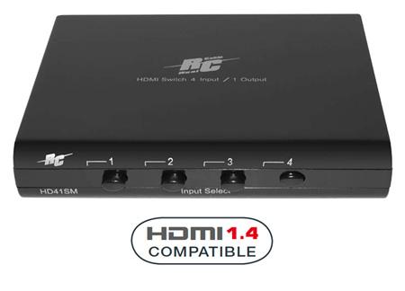 Фото товара HDMI коммутатор :  Real Cable    коммутатор  HDMI HD41SM