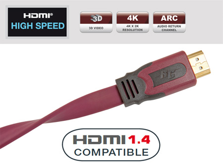 Кабель HDMI:Real Cable  HD-E-FLAT (HDMI-HDMI) HDMI 1.4 3D  High Speed with Ethernet 2M00
