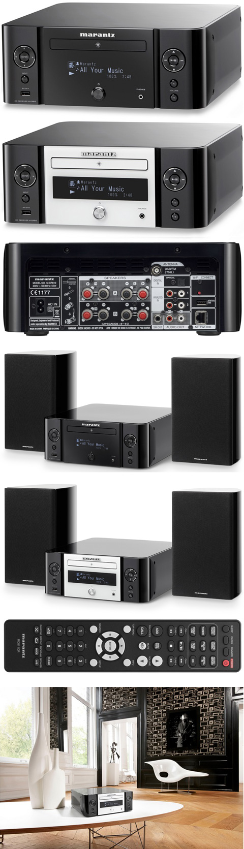 Медиаплеер сетевой / CD / FM: Marantz Melody Media - M-CR 610 Black