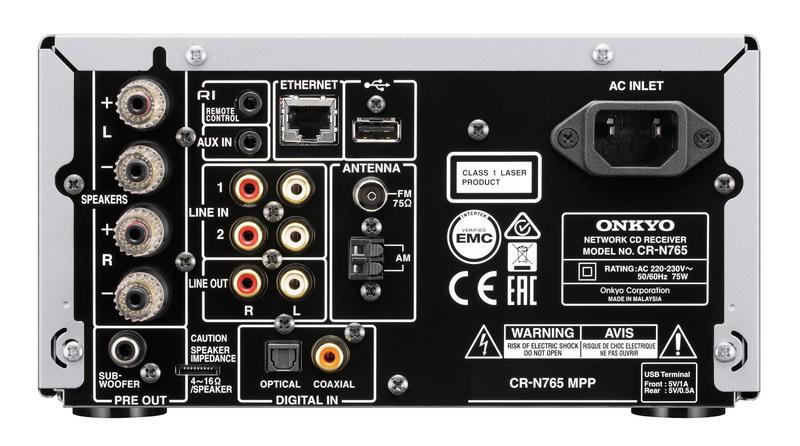 Фото № 6 товара Сетевая CD-мини система: Onkyo CS-N765 Black