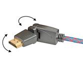 Кабель HDMI: с изменяемым углом коннектора: Real Cable  HD-E-360 (HDMI-HDMI) 1.4 3D Ethernet   1M50