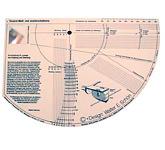 Шаблон для настройки проигрывателя: Tonar Professional Cartridge Install Protractor, art. 3583