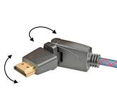 Кабель HDMI: с изменяемым углом коннектора: Real Cable  HD-E-360 (HDMI-HDMI)  1.4 3D Ethernet 1M00