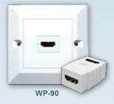 Встраиваемая розетка HDMI : Real Cable  Встраиваемая розетка Wall Plate (HDMI F- HDMI F) 90°