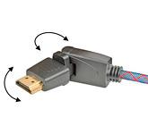 Кабель HDMI: с изменяемым углом коннектора: Real Cable  HD-E-360 (HDMI-HDMI) 1.4 3D Ethernet  3M00