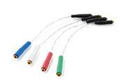 Комплект кабелей для площадки (headshell) крепления картриджа: Headshell Cable Set 6N AC008/S