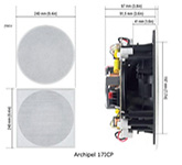 Встраиваемая акустика: Cabasse Archipel 17 ICP  White (paintable)