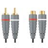 Кабель: Bandridge BAL 4301   Cable  2x RCA  M - 2x RCA  F  1m. Удлинитель Стерео.