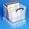 Ящик полипропиленовый прозрачный с крышкой для пластинок, на 95шт. (Великобритания)